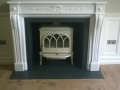 Chesney Fontainbleu Marble Surround & Jotul F400 Ivory Enamel