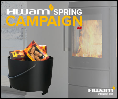FREE LOG BUCKET AND FIRESTARTERS WITH HWAM STOVES!